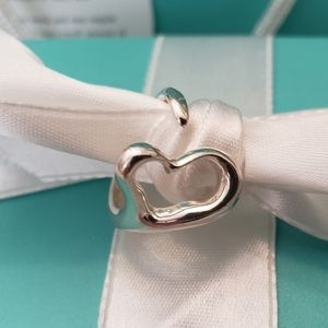 Tiffany & Co Elsa Peretti Open Heart Ring Size 6